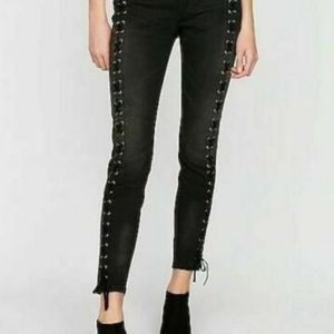Express Lace Up Ankle Legging Stretch Jean